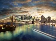 城市繁华夜景图片大全 唯美城市大桥繁华夜景高清图集