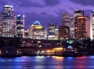 美丽的夜景图片大全 旧金山金门大桥夜景图片欣赏