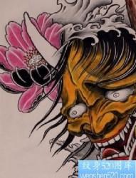 般若莲花纹身图片