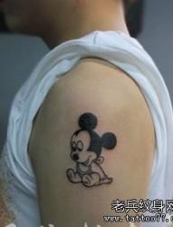 手臂卡通小米老鼠纹身图片