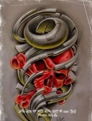 欧美骷髅纹身图片图案