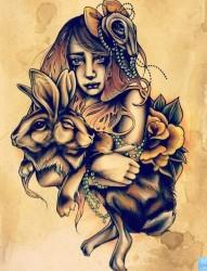 为大家一张欧美美女纹身图片