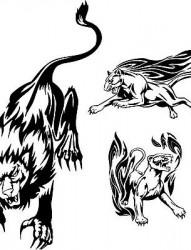 豹子纹身图片:图腾黑豹纹身图片图案