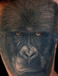 黑猩猩纹身图片