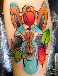 推荐一张漂亮的抽象动物纹身图片