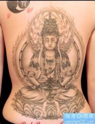 纹身520图库:满背佛纹身图片图案
