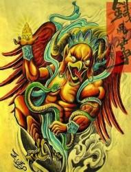 佛教大鹏金翅鸟纹身图片