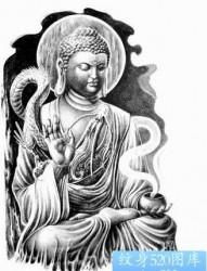 宗教纹身图片:一张如来佛祖纹身图案
