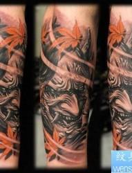 一张很酷凶悍的般若纹身图片