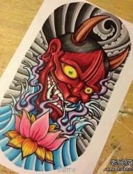 经典很帅的一张般若纹身手稿