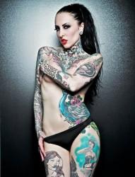 性感美女的纹身诱惑