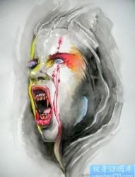吸血鬼纹身图片:吸血鬼纹身图片图案