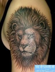 纹身图片:狮子纹身图片(经典)
