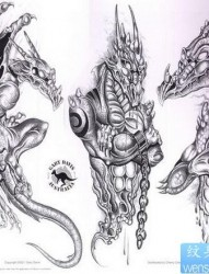龙纹身图片:欧美龙纹身图片纹身作品