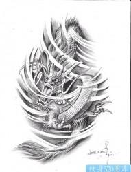 中国传统龙纹身图片