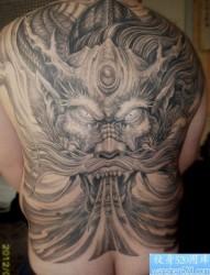 霸气牛逼的满背龙纹身图片