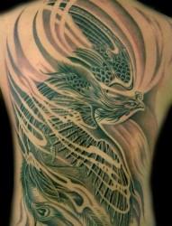 满背纹身图片:满背凤凰纹身图片作品