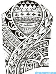 一幅很帅时尚的手臂图腾纹身手稿