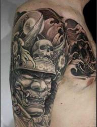 推荐一幅个性的般若武士纹身图片