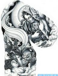 个人收藏的经典欧美半胛圣母宗教纹身手稿大放送图片作品