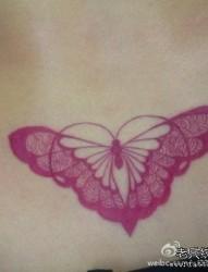 美女腰部时尚唯美的图腾蝴蝶纹身图片