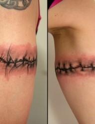 撕皮纹身图片:手臂撕皮纹身图片作品