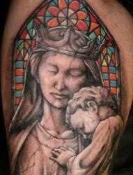 手臂肖像纹身图片