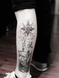 一幅腿部欧美风格纹身图片有纹身520图库推荐