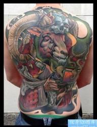 霸气的满背纹身作品