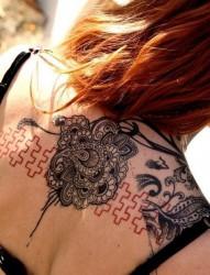 肩部之特别风格花腾纹身图案