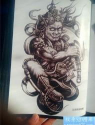 传统年鉴雷神纹身手稿(65)