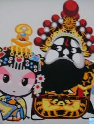 一幅Q 版的西楚霸王纹身图案