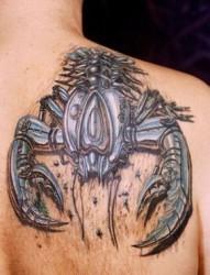 风格迥异的3D大蝎子纹身图案