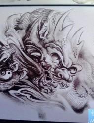 传统年鉴纹身手稿(127)