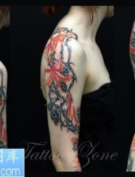 热情而又凄美的彼岸花纹身图案