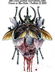 个性的心脏纹身图案