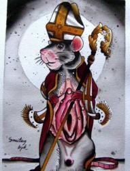 老鼠纹身手稿图案