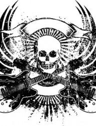 男士恐怖霸气骷髅纹身手稿图案