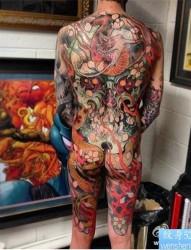 霸气满背纹身图案