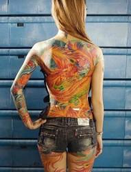 大型满背纹身套图