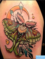 一款彩色风筝纹身图案