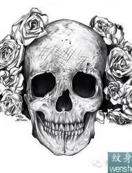 霸气侧漏骷髅纹身手稿套图