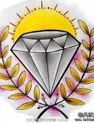 钻石纹身手稿图案