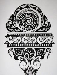一款玛雅图腾纹身图案