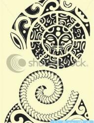 一款个性的玛雅图腾纹身图案