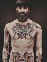 欧美男士超酷纹身图案