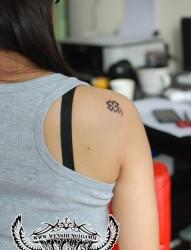 四叶草的寓意纹身