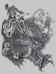 很值得收藏的麒麟纹身手稿