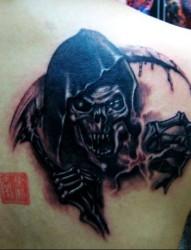 个性代表 死神纹身