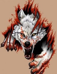 霸气外漏的狼纹身手稿